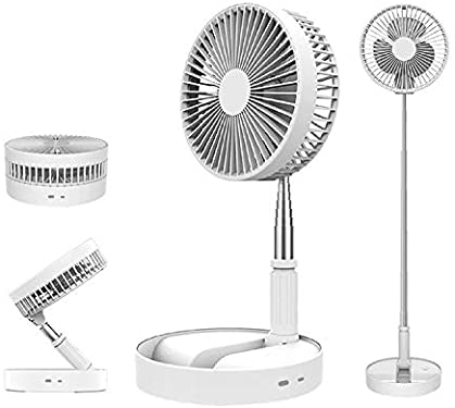 Amaze - Foldable, Portable, Telescoping, Adjustable Re-Chargeable Multi Speed Mini Travel, Desk and Table Fan